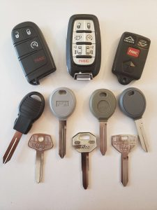 Chrysler Car Keys Replacement - Non Chip, Transponder and Push To Start Remote Fob Car Keys