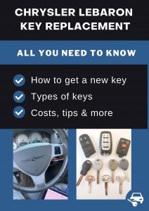 Chrysler Lebaron key replacement - All you need to know