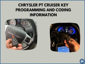 Automotive locksmith programming a Chrysler PT Cruiser key on-site