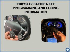 Automotive locksmith programming a Chrysler Pacifica key on-site