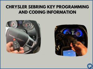 Automotive locksmith programming a Chrysler Sebring key on-site