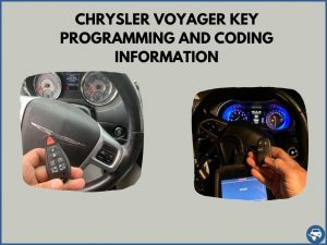 Automotive locksmith programming a Chrysler Voyager key on-site