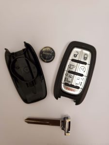 Chrysler remote key fob battery replacement information (Used for 2018 and up)