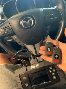 Mazda transponder keys coded with a special coding machine