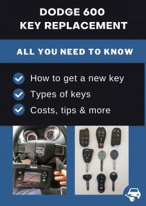 Dodge 600 key replacement - All you need to know
