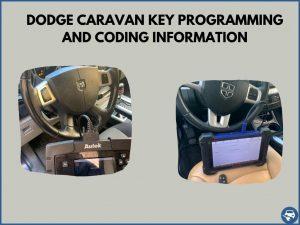 Automotive locksmith programming a Dodge Caravan key on-site