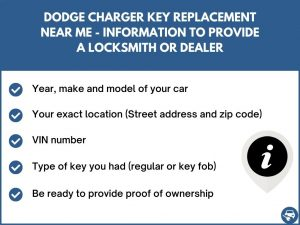 Dodge Charger key replacement service near your location - Tips