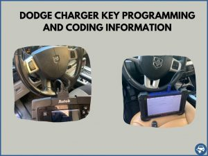 Automotive locksmith programming a Dodge Charger key on-site