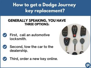 How to get a Dodge Journey replacement key