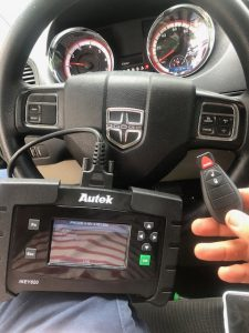 Dodge key coded on-site by auto locksmith