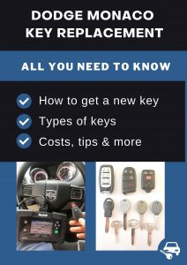 Dodge Monaco key replacement - All you need to know