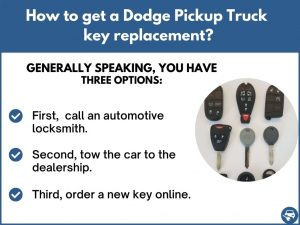 How to get a Dodge Pickup Truck replacement key