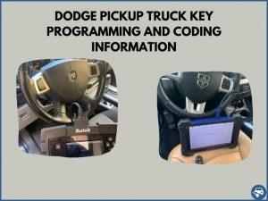 Automotive locksmith programming a Dodge Pickup Truck key on-site