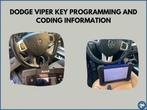 Automotive locksmith programming a Dodge Viper key on-site