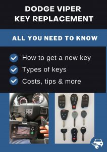 Dodge Viper key replacement - All you need to know