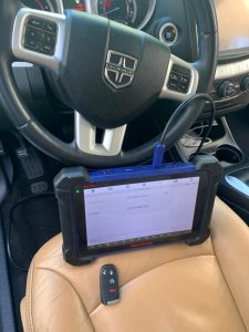 Automotive locksmith coding new Dodge key fob