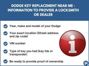 Dodge key replacement near me - Relevant information