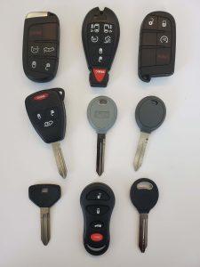 Variety of Dodge keys - Key fobs, transponder, non chip and keyless entry