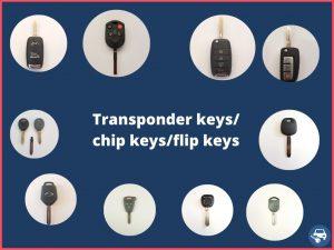 Transponder keys - different makes