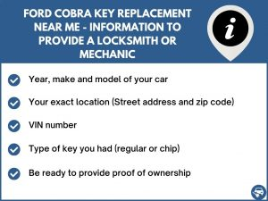 Ford Cobra key replacement service near your location - Tips