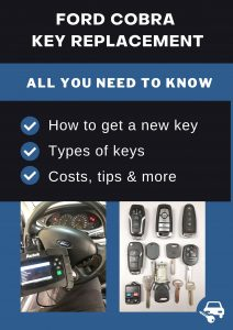 Ford Cobra key replacement - All you need to know