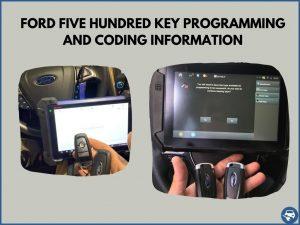 Automotive locksmith programming a Ford Five Hundred key on-site