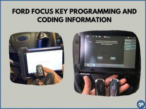 Automotive locksmith programming a Ford Focus key on-site