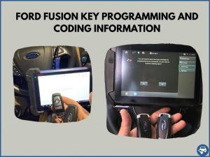 Automotive locksmith programming a Ford Fusion key on-site