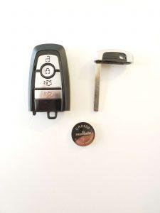 2021 Ford key fob, emergency key and battery