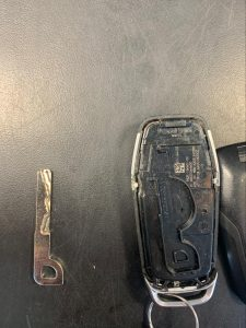 Ford key fob and emergency key