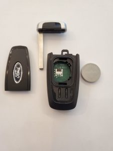 Inside look key fob and battery