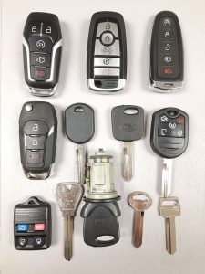 Variety of Ford keys - Different years