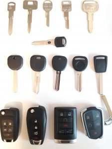 Все варианты авто ключей для Шевроле