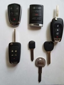 Chevy Replacement Car Keys - Different Years