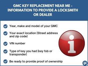 GMC key replacement near me - Relevant information