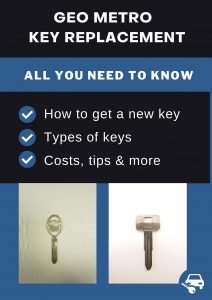 Geo Metro key replacement - All you need to know
