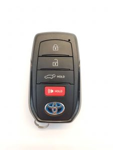 Remote key fob for a Toyota Venza