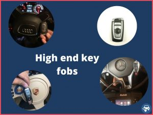 High end cars key fobs