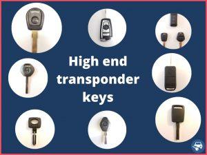 High end transponder car keys