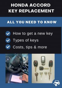 Honda Accord key replacement - All you need to know