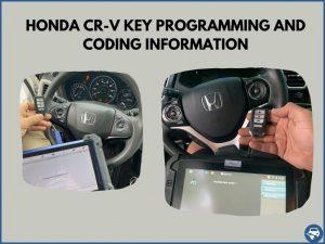 Automotive locksmith programming a Honda CR-V key on-site