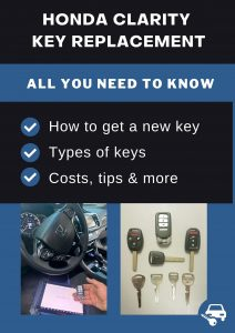 Honda Clarity key replacement - All you need to know