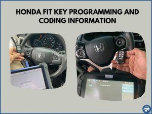 Automotive locksmith programming a Honda Fit key on-site