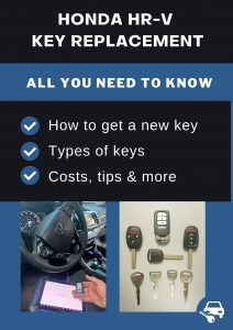Honda HR-V key replacement - All you need to know