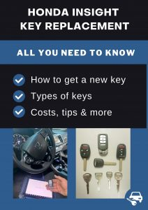 Honda Insight key replacement - All you need to know