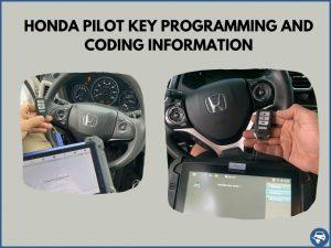 Automotive locksmith programming a Honda Pilot key on-site