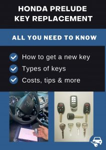 Honda Prelude key replacement - All you need to know