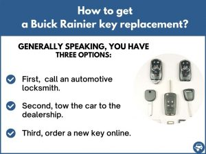 How to get a Buick Rainier replacement key