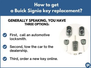 How to get a Buick Signia replacement key