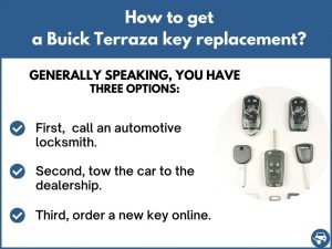 How to get a Buick Terraza replacement key